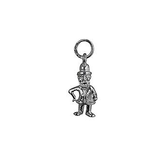 Silver 17x9mm Leprechaun Pendant or Charm
