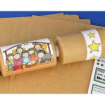 8 Kraft Kids Christian Nativity Christmas Make & Fill Your Own Crackers Kit
