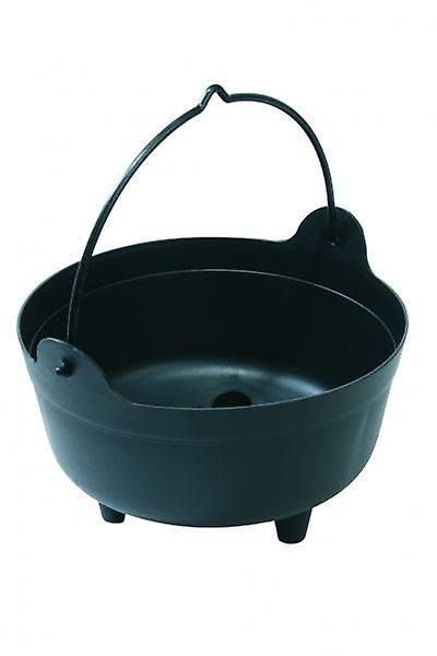 Black Large Cauldron Indoor Outdoor Plant Arrangements Gardening