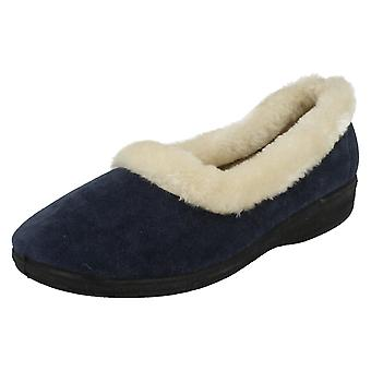Ladies Four Seasons Memory Foam Full Slippers Susan