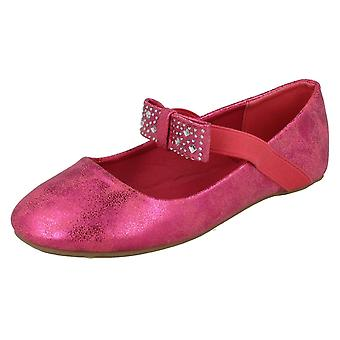 Girls Spot On Flat Ballerina Shoes H2380