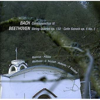 Larsen Beethoven - Bach: Contrapuntus Xi; Beethoven: Strygekvartet Op. 132; Cello Sonata Op. 5 nr. 1 [CD] USA importerer