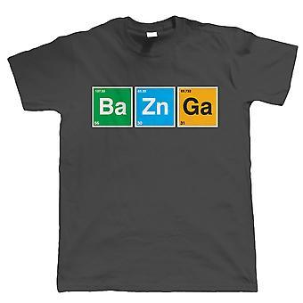 Bazinga T рубашка мужская смешные Sci-Fi Geek периодическая таблица