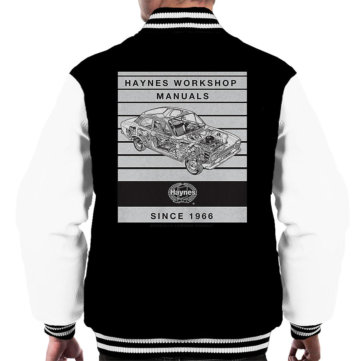 Haynes Workshop Manual 0171 Ford Escort 1300 Stripe Men's Varsity Jacket