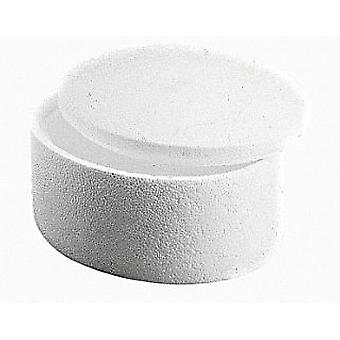 145mm Polystyrene Round Box with Lid to Decorate | Styrofoam Shapes for Crafts