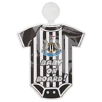 Newcastle United FC Official Football Kit Baby On Board Car Window Sign