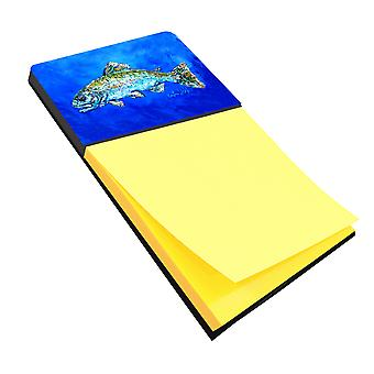 Fish Headed Downstream Refiillable Sticky Note Holder or Postit Note Dispenser