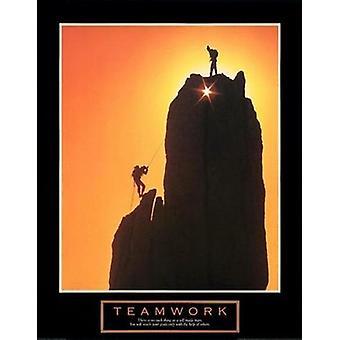 Коллективная работа - закат альпинистов плакат печать (22 x 28)