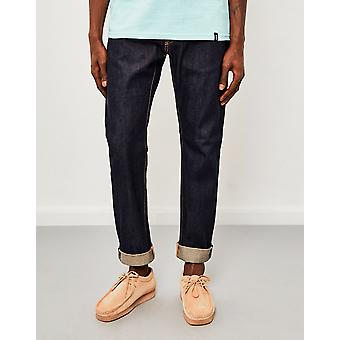 Edwin ED-55  Regular Tapered  63 Rainbow Selvedge Jeans  Unwashed
