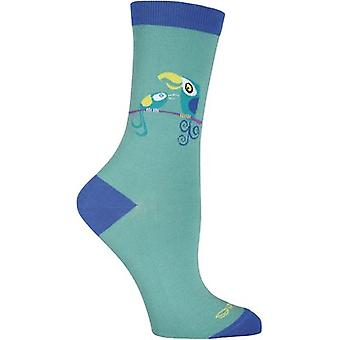 Shag Novelty Crew Socks-Tiki Birds SGWFH-7H002