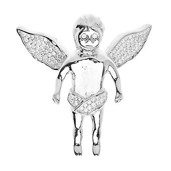 Premium Bling - 925 sterling silver Angel pendant