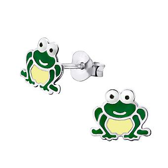 Frog - 925 Sterling Silver Colourful Ear Studs