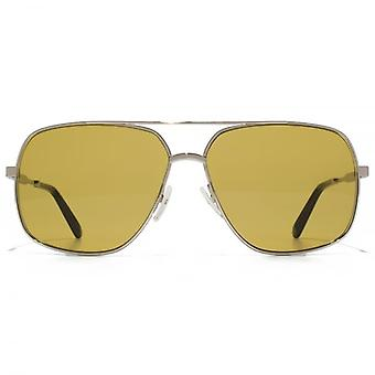 Marc Jacobs Square Pilot Sunglasses In Palladium Brown