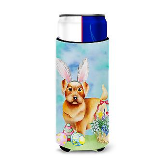 Norfolk Terrier Easter Bunny Michelob Ultra Hugger for slim cans