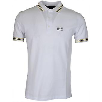 Cavalli Class B3jrb718 Jersey Stretch White Polo