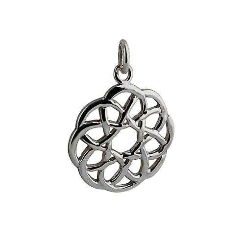Silver 22mm round Celtic knot design Pendant