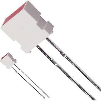 LED wired Red Rectangular 3.65 x 6.15 mm 12 mcd