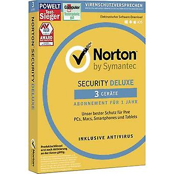 Symantec Norton Security Deluxe 3.0 Full version, 3 licenses Windows, Mac OS Security