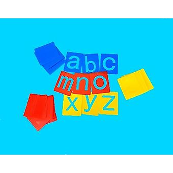 26 Washable Small Lowercase Alphabet Letter Stencils for Kids