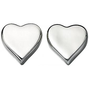 Beginnings Heart Stud Earrings - Silver