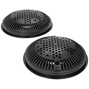 Hayward WG1030AVBLKPAK2 Dual Suction Flow Drain Cover and Frame - Black