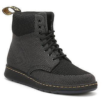 Dr. Martens Black / Anthracite Rigal Knit Boots