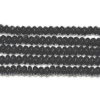 Strand 70+ Black Onyx 5 x 8mm Faceted Rondelle Beads GS3378-2