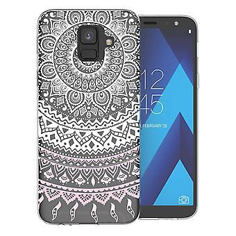 Samsung A6 (2018) Mandala TPU Gel Case - wit