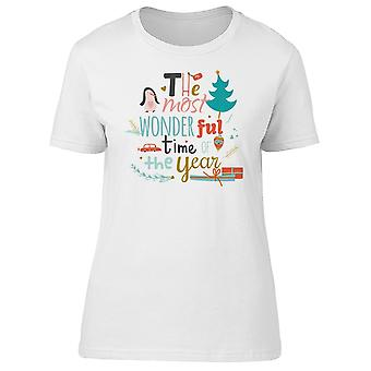 Enjoy Holidays, Wonderful Time Tee Women's -Image by Shutterstock