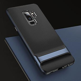 Oprindelige ROCK hybrid silikone case taske sort / blå for Samsung Galaxy S9 plus G965F