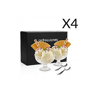 Andrew James Tulip Shaped Ice Cream Cup Set (Multipacks)