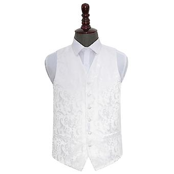 White Floral Wedding Waistcoat