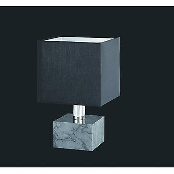 Trio Lighting Daytona Modern Black Marble Table Lamp