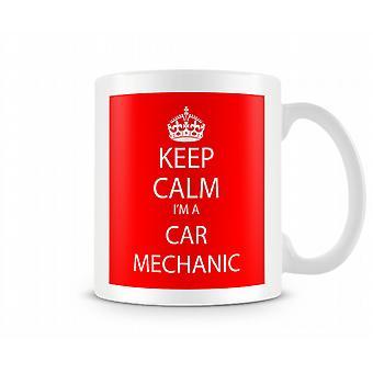 Bleib 'ruhig Im ein Auto-Mechaniker-Becher Gedruckt Gedruckt Tasse