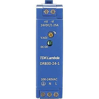 TDK-Lambda DRB-30-24-1 Rail mounted PSU (DIN) 24 Vdc 1.25 A 30 W 1 x