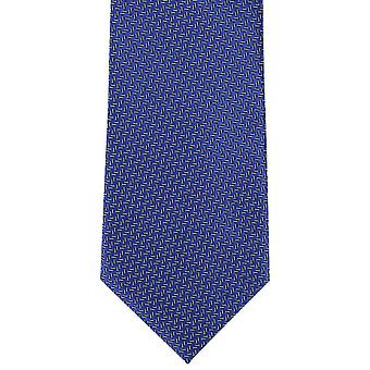 Michelsons of London Micro Semi Plain Polyester Tie - Royal Blue