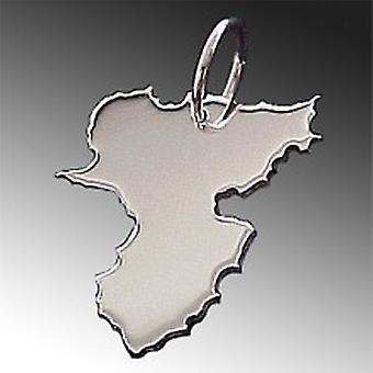 Trailer map RHEINLAND-PFALZ pendant in solid 925 Silver