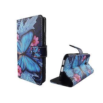 Mobiele telefoon geval zakje voor mobiele Vodafone smart Prime 7 Blauwe vlinder