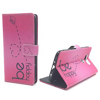 Mobile phone case pouch for cell phone LG G5 be happy pink