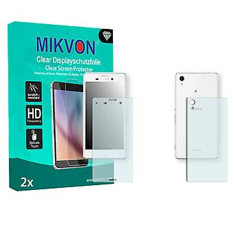 Sony Xperia M4 Aqua Dual Screen Protector - Mikvon Clear (Retail Package with accessories) (1x FRONT / 1x BACK)