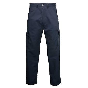 Rty Mens Workwear Polycotton Cargo Trousers Pants Black,Navy