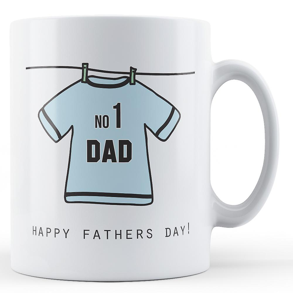 Day ShirtbluePrinted DadFathers No1 Mug Football BdCexo