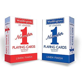 Waddington's Number 1 Classic playing cards in a high quality 2-Pack