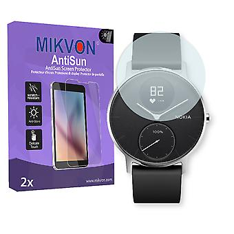 Nokia Steel HR 40mm Screen Protector - Mikvon AntiSun (Retail Package with accessories)