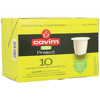 Covim Espresso Coffee Bio & Compostable 100% Arabica 10 Capsules