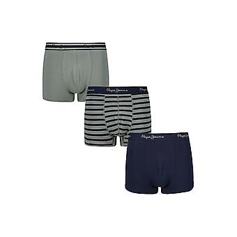 New Designer Mens Pepe Jeans Short Boxer Trunk Shorts Deon Gift Set