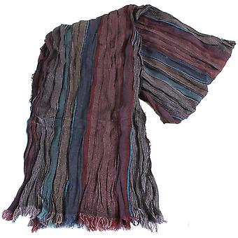 Bassin and Brown Platini Striped Scarf - Wine/Teal