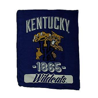 NCAA Kentucky Wildcats Micro Raschel Plush Throw Blanket 46 x 60 inch