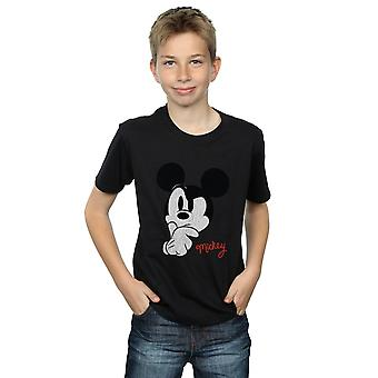 Disney Boys Mickey Mouse Distressed Ponder T-Shirt