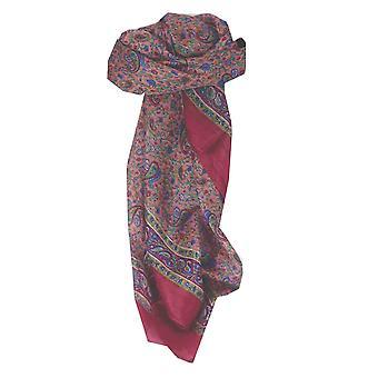 Rosa de Abbe amoreira seda tradicional lenço quadrado por Pashmina & seda